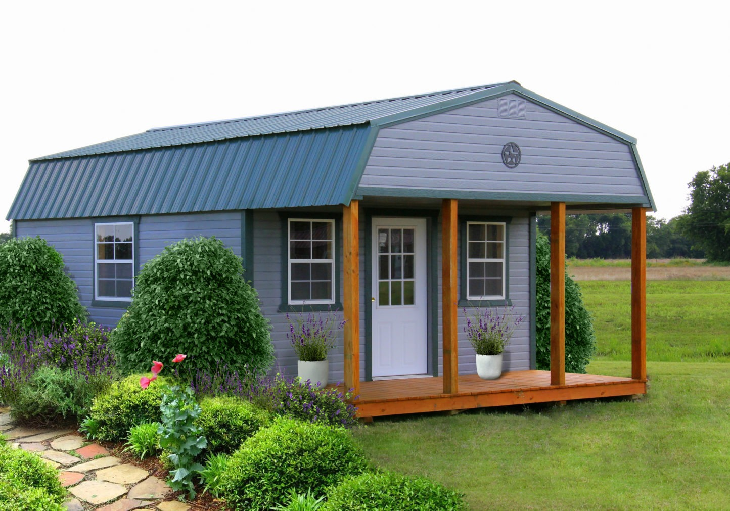 Painted Lap Lofted Cabin