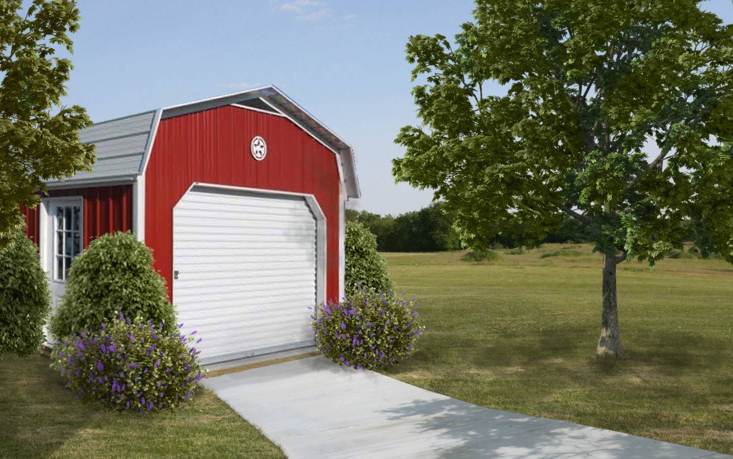 Metal Lofted Garage