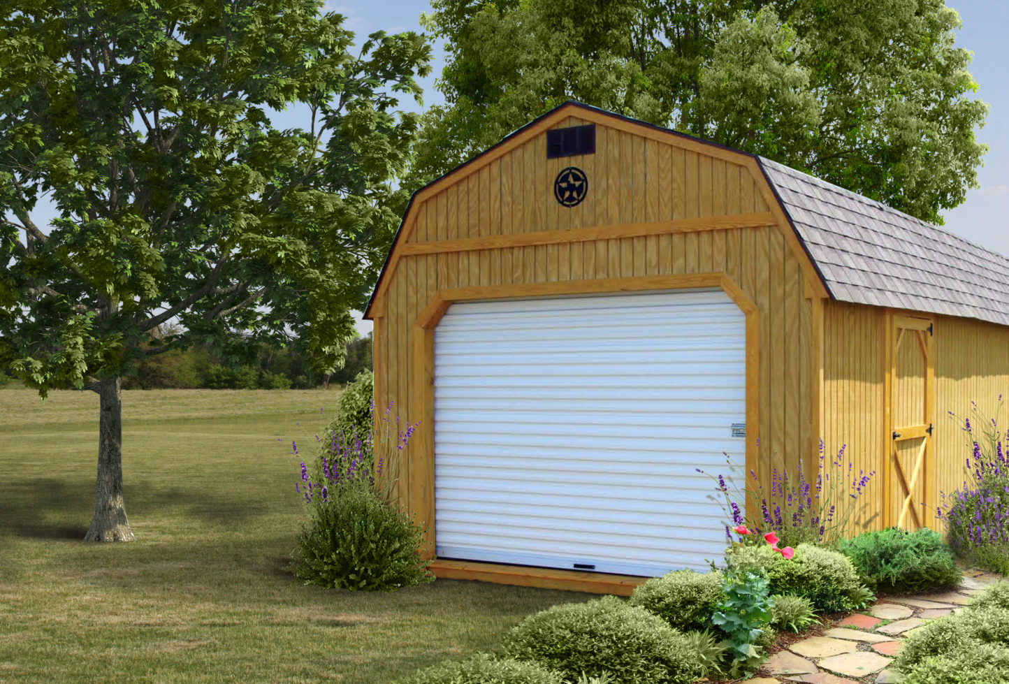 Wood Lofted Garage