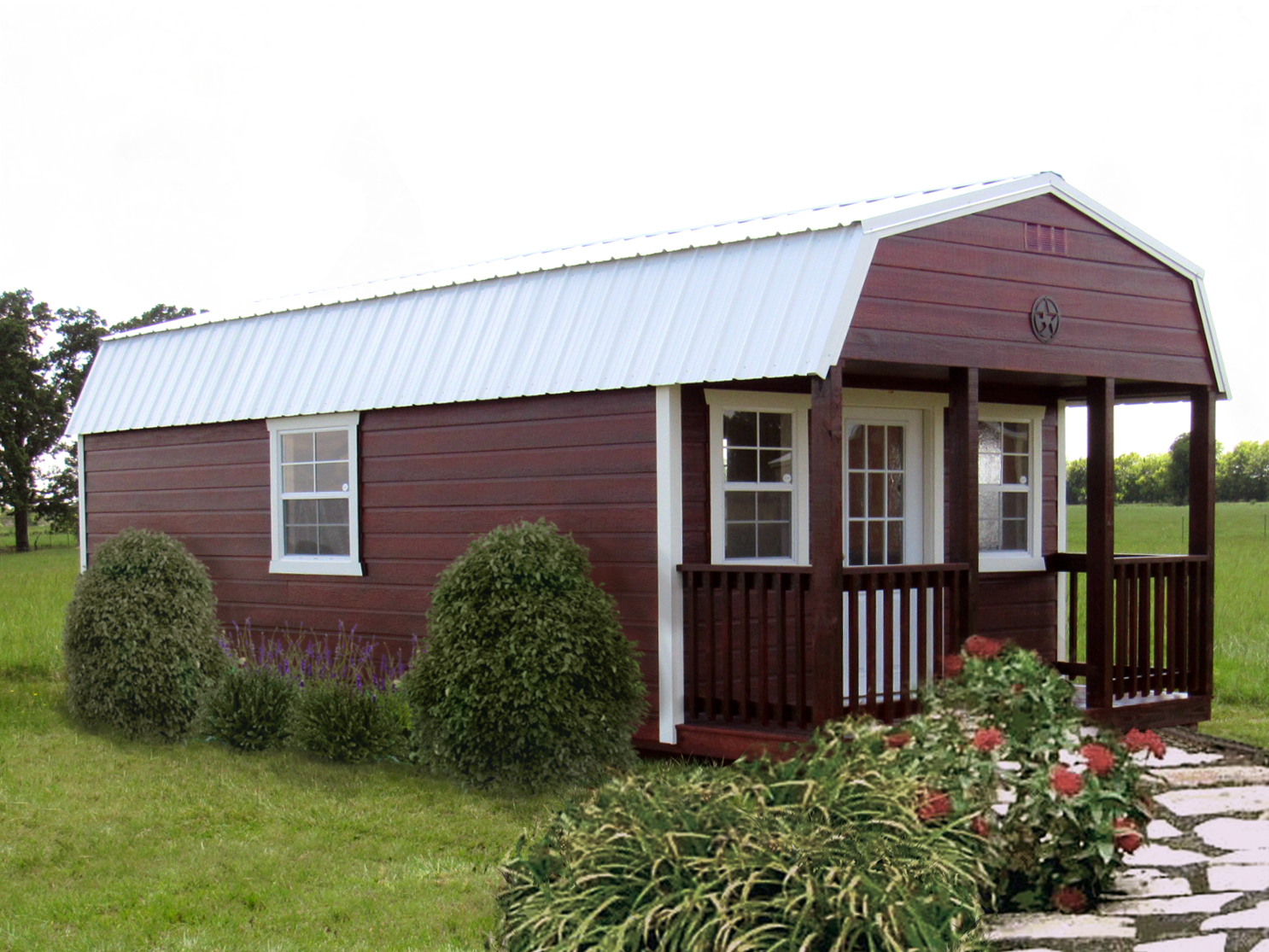 Hardie Stained Lofted Cabin