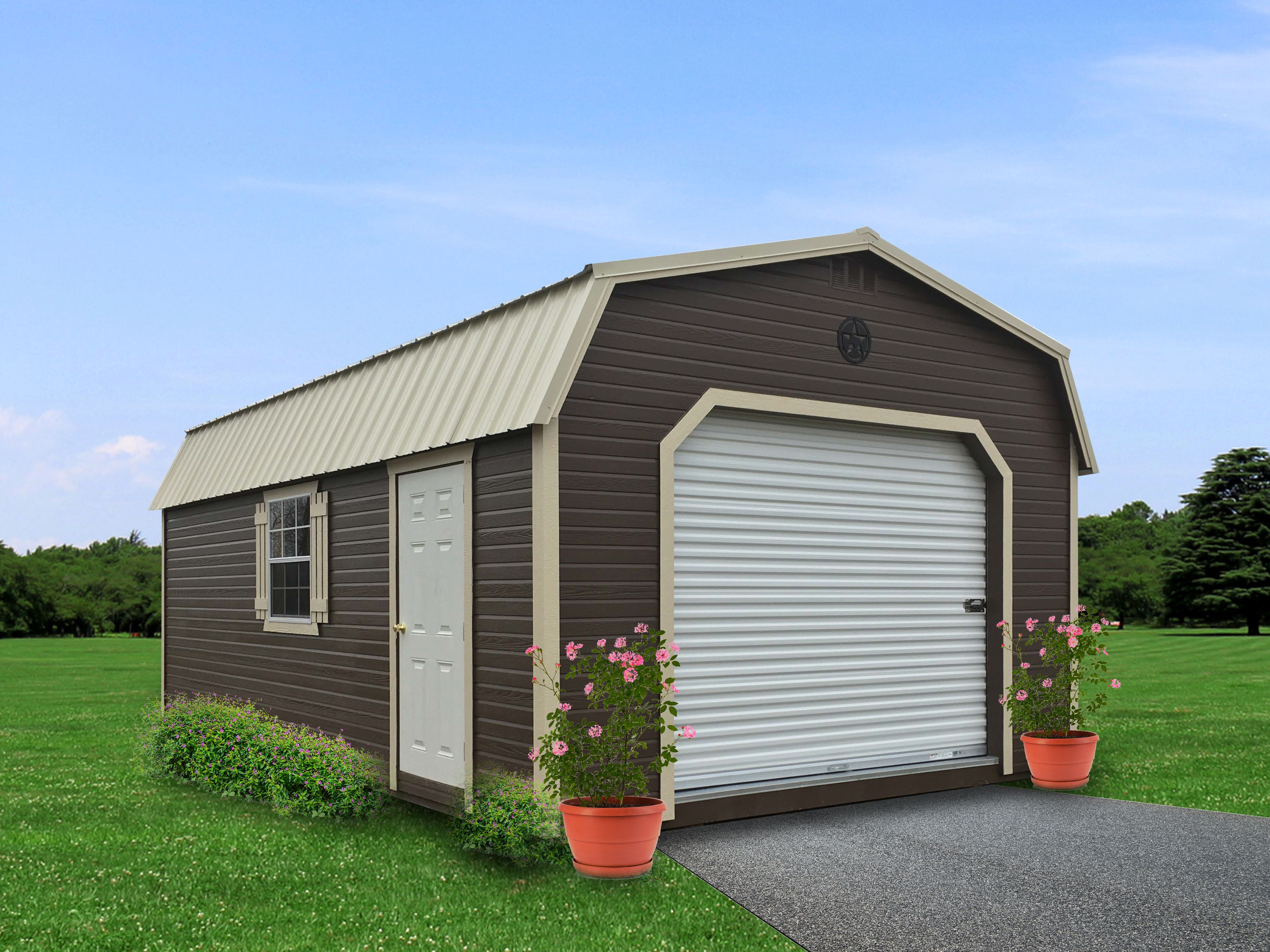Painted Dutchlap Lofted Garage