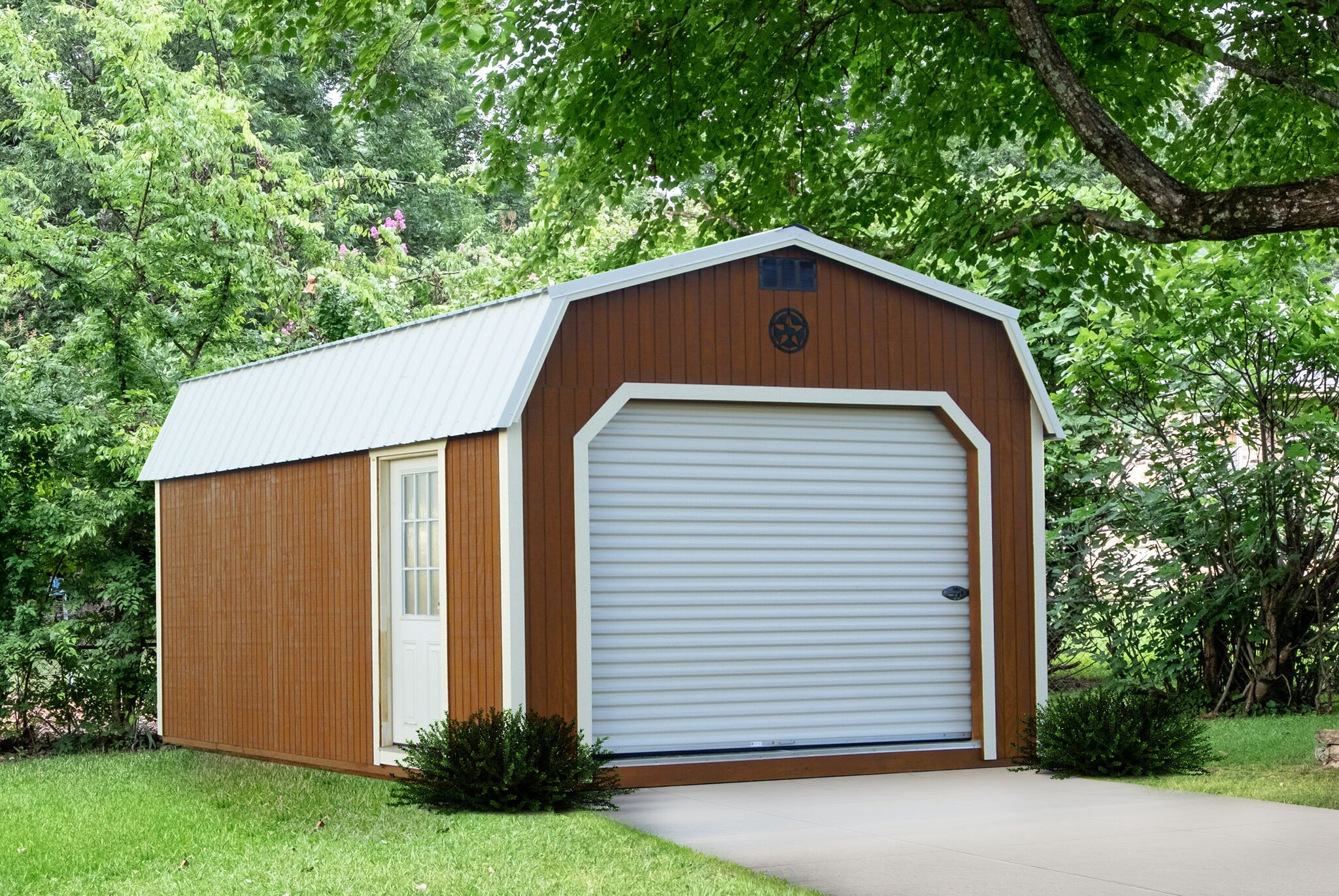 Painted Lofted Garage